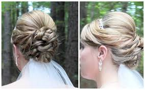 hairstyles easy to do for medium length hair bridal updo on shoulder length hair youtube