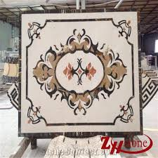 china marble waterjet tile light and brown marble medallion