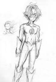 sketch kid flash by shaman kid on deviantart