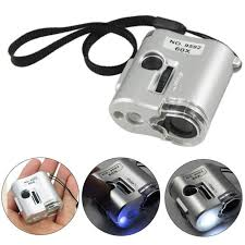 pocket magnifier with light 60x pocket magnifier uv led light jeweler loupe magnifying glass