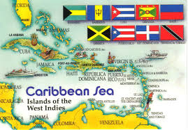 Map Of Caribbean Sea Islands by Caribbean Sea Map Postcard 2 A Photo On Flickriver