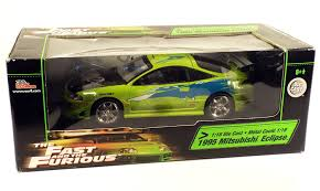 mitsubishi eclipse fast and furious amazon com 33412 ertl american muscle