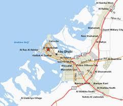 map of abu dabi abu dhabi on map major tourist attractions maps