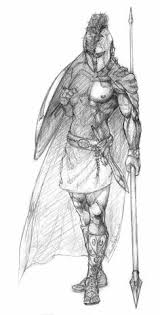 an illustration of spartan roman greek trojan or gladiator helmet