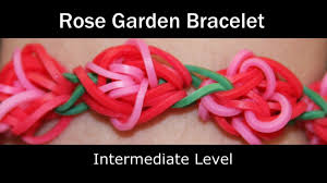 rainbow loom rose garden bracelet youtube