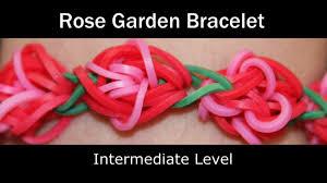 rainbow loom rose garden bracelet youtube