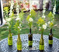 The creative use of old wine bottles Wine Bottles decoration ideas