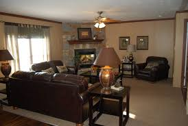Decorating With A Brown Leather Sofa Living Room Amazing Corner Fireplace Decorating Family Room With