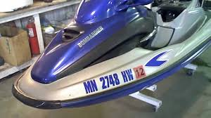 lot 1327a 2001 sea doo gtx di jet ski running youtube