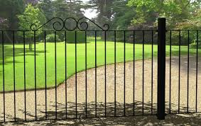 exterior awesome strong grey fence color idea with small door