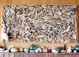 wood pieces wall driftwood wall large drift wood completely coastal 12