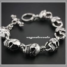 bracelet men skull images 8 1 quot heavy huge 316l stainless steel mens bracelet 5c001 heart jpg
