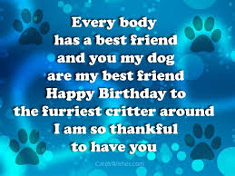 birthday wishes for pet dog cards wishes