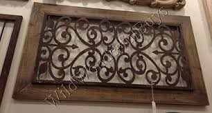 bold design ideas wood metal wall decor benzara arched and
