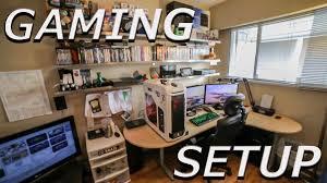 gaming corner desk epic gaming setup 2015 youtube