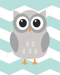 Owl Decor Woodland Nursery Print Owl Nursery Decor Aqua And Gray
