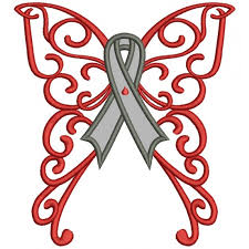 diabetes ribbon wings cure diabetes ribbon applique machine embroidery design