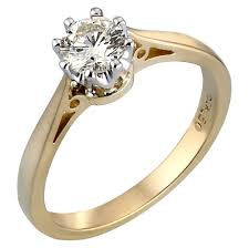 rings gold images 18ct gold half carat diamond solitaire ring h samuel