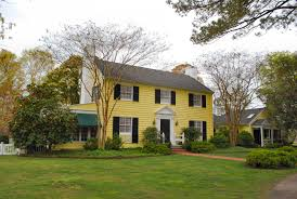 colonial style homes indoor classic colonial style house stock