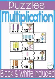 multiplication fact puzzles for multiples of 1 10 life over cs