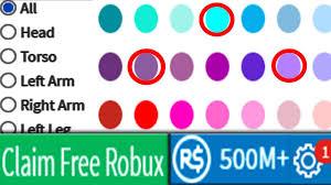 new secret skin color combination gives you 500m free robux