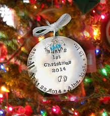 personalized christmas ornaments baby new baby 1st christmas oranament