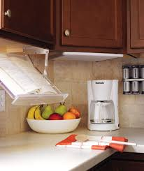 Under Cabinet Cookbook Holder Plans A Retractable Book Stand Keeps A Recipe At Eye Level While You U0027re