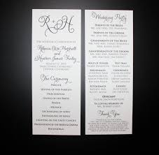 printed wedding programs printed wedding programs in black ink flourished calligraphy