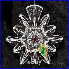2011 snowflake wish for 1st ed ruby lismore ornament
