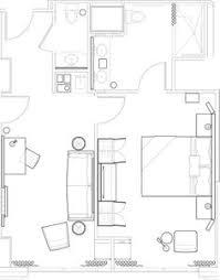 Hotel Room Floor Plan Design 344 Sq Ft Hyatt Hotel Suite Layout That Would Work For A Studio