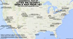 University Of Miami Map by Judgmental Maps Judgmental Map Of Cities We Haven U0027t Seen A Map