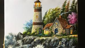 paint a lighthouse in acrylic lesson 2