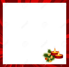 red frame with christmas decorations vector illustration royalty