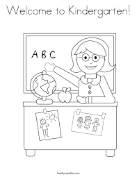coloring pages for kindergarten welcome to kindergarten coloring page twisty noodle