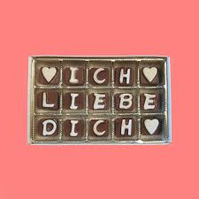 ich liebe dich chocolate letters romantic by what candy says on zibbet