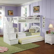 Bunk Beds With Stairs White Classic Arch Slatted Bunk Bed With Stairs Rosenberryrooms Com