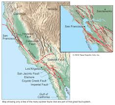 san francisco fault map san andreas fault map by tasa graphic artists map california