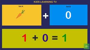 addition one plus zero math for kindergarten youtube