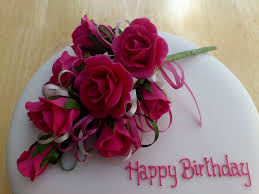 Birthday Cake With Roses Photo Decorating Of Party