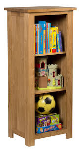 Narrow Bookcase With Drawers by Waverly Oak Small Narrow Bookcase With 3 Shelves Hallowood