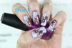 nail art design plum u0026 gold lace design youtube
