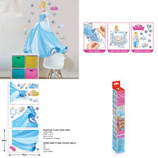 limited edition disney cinderella large wall sticker with high a unique alternative to bedroom accessories the pack contains a large cinderella wall sticker as well as a light switch sticker and door sticker