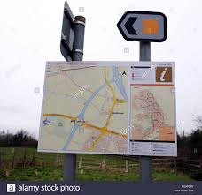 Bristol England Map by Map Sign For Pedestrian And Cycle Routes In North Bristol England