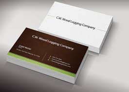 professional masculine business card design for c w wood logging