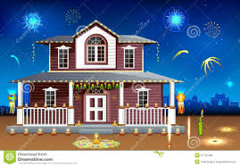decorated house in diwali night stock images image 27151394