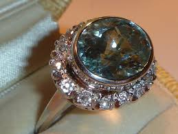 vintage art deco aquamarine diamond u0026 platinum ring jewelry