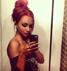 how to put red hair in on the dide with 27 pieceyoutube shoulder less top and red hair put in a messy updo barbie