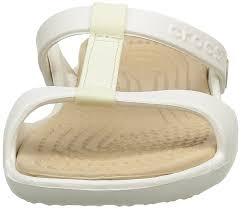 crocs jibbitz crocs women u0027s cleo iii wedge heels sandals white