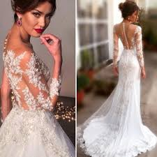 most beautiful wedding dresses discount 2015 fashion a line wedding dresses with covered button