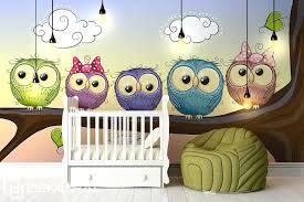 tapisserie chambre d enfant tapisserie chambre d enfant hiboux disent bonne nuit papier peint